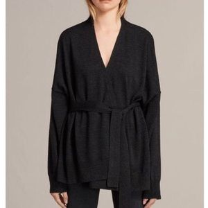 NWOT All Saints Inaya dark gray cardigan sweater